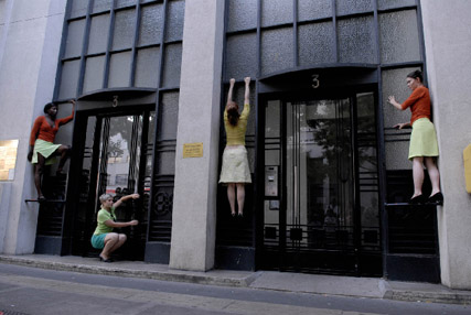 Compagnie desprairies, site-specific performance, Là commence le ciel
