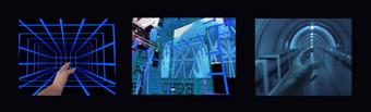 Thea Baumann, Virtual Terrain Tryptich (stills form video projection), 2003