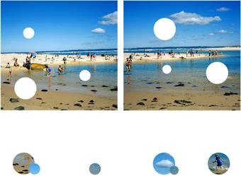 Derek Krekler, Holey 1, 2003, type C photographs, diptych