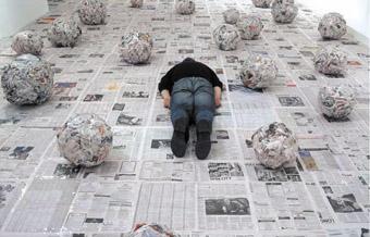 Franz Ehmann, speaking the world into existence, 2005, installation detail