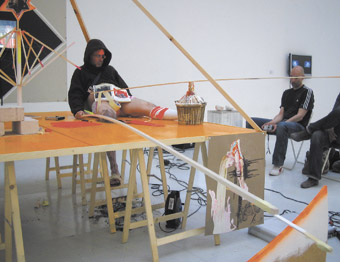 Guy Benfield, Stadium Redux Redux, installation performance, 2006