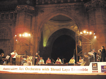 Australian Art Orchestra Sruthi Laya Ensemble, Into the Fire, Gateway of India Mumbai