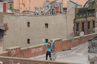 Christian Jankowski, Rooftop Routine 2007