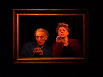 Peter Snow, Tess de Quincey, embrace: Guilt Frame