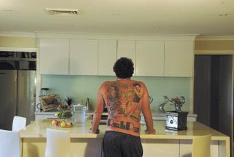 Glen in the kitchen, digital print, 2007, Bon Scott Photo Project