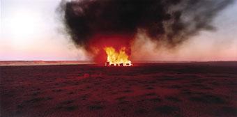 Rosemary Laing, burning Ayer