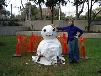 Sarah CrowEST, snow creature