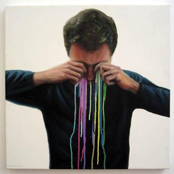 James Cochran, The Artist's Tears, oil & enamel on canvas, 63 x 63cms