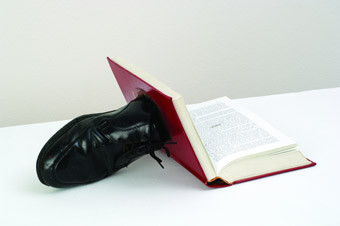 Ai Weiwei, Untitled, 1986, book with shoe,