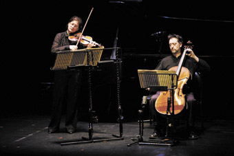 Telesto Duo (Tiziana Pintus and John Addison) performing Constantine Koukias' Byzantine Reflections