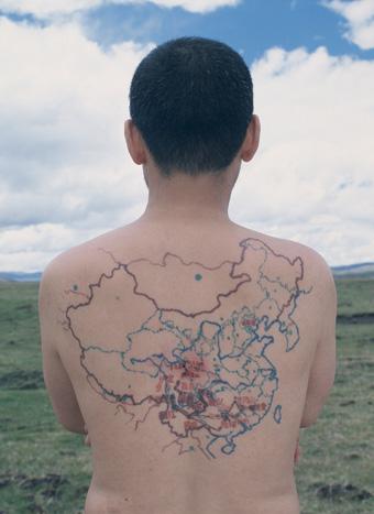 Qin Ga, The miniature long march (detail) 2002-05