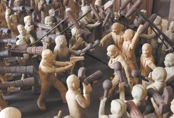 Zhou Xiaohu, Utopian theatre (detail) 2006