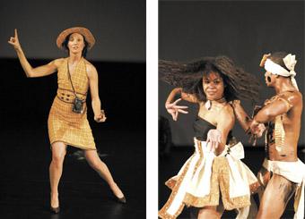 left - Leah Shelton, Polytoxic, right - Vou Dance Company
