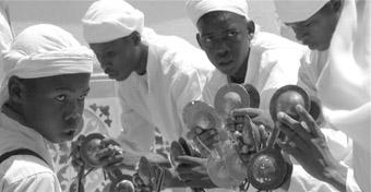 A Gnawa troupe in Essaouira