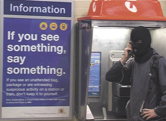 "Jon Wah, Balaclava: ""if you see something say something""; 2005"