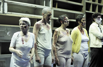 Robyn Nevin, Jennifer Vuletic, Natalie Gamsu, Queenie van de Zandt, Kyle Rowling,; The Women of Troy