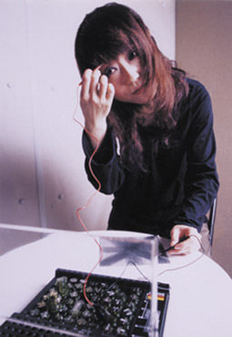 Haco with her Pencil Organ