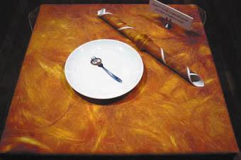 Pam Kleemann, Short n Curly Vermicelli served on a bed of Saffron Swirls