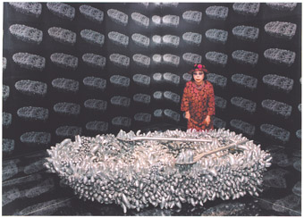 Yayoi Kusama, Walking on the Sea of Death, 1981