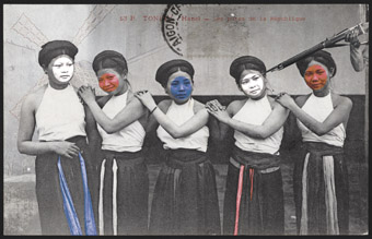 Liza Nguyen, The whores of the Republic, 2008, photograph printed on canvas