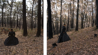 panels 1 and 3 from triptych PolesApart 2, 2009; c-type photographs,  r e a, BreenSpace, Sydney