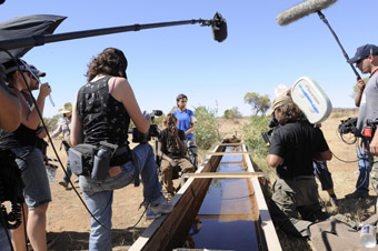 Beck Cole and team; R: Warwick Thornton and team, The Making of Samson and Delilah