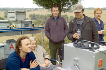 LR: Heath Ledger, Abbie Cornish, Luke Davies, Neil Armfield