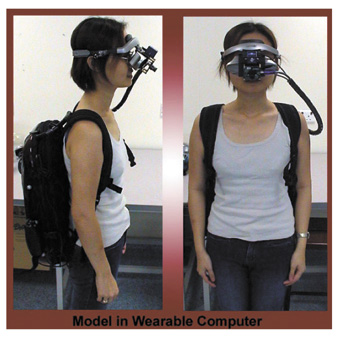 Model in wearable computer, Human Pacman (2005) Mixed Reality Lab, Singapore