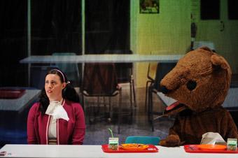Katherine Tonkin and bear, Apocalypse Bear Trilogy, Stuck Pigs Squealing