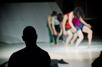Garry Stewart with dancers