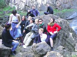 Splendid Arts Lab participants at Minyon Falls