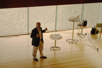 Douglas Kahn in the Red Box, State Library of Queensland,