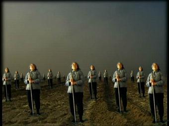 Gong Xin Wang, My Sun, 2001, 3-data-projector installation