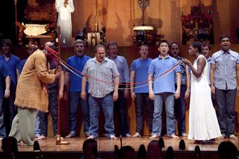 foreground Roderick Dixon, Elma Kris, Oedipus Rex & Symphony of Psalms