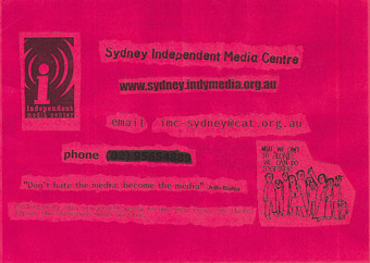 Indymedia flyer