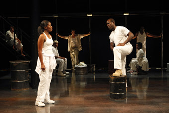 Kianne Muschett, Sterling K. Brown and the company, In the Red and Brown Water, part of  The Brother/Sister Plays