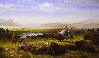 The Death of Adonis, 2009, Kent Monkman, acrylic on canvas