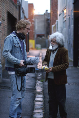 director Amiel Courtin-Wilson and Jack Charles, Bastardy