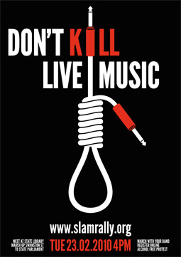 Save Live Music in Melbourne (SLAM) poster