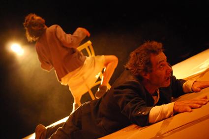 Eugene Gilfedder, Jennifer Flowers, The Chairs, La Boite