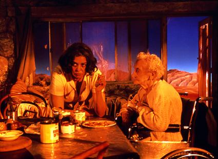 Sandra Bullock, Quinton Aaron, The Blind Side, photo Ralph Nelson, courtesy Warner Home Video; left - Marcia Langton, Agnes Hardick, Night Cries, Tracie Moffat