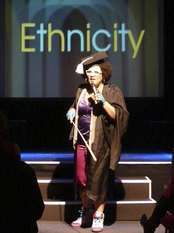 Candy Bowers, Who's That Chik?, performing at National Multicultural Arts Symposium 2010