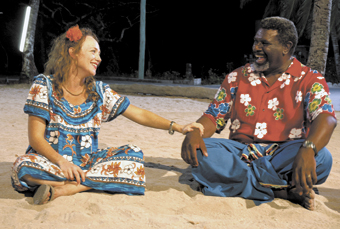 Helen Tremain (Susie Porter) with<br /> Russ Gaibui (Charles Passi), RAN