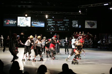 Bloodbath, Bump Projects and the Sydney Roller Derby League