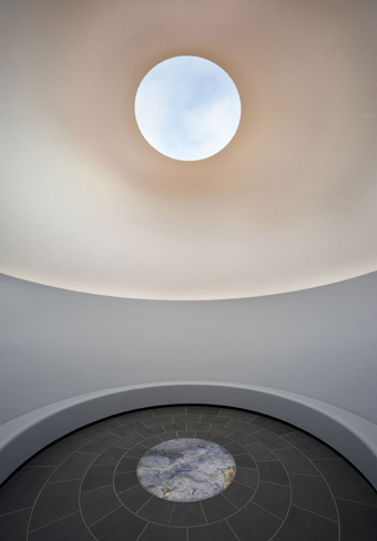 James Turrell, Within without, 2010 lighting installation, concrete and basalt stupa, water, earth, landscaping 800 x 2800 x 2800 cm National Gallery of Australia, Canberra Purchased with support of visitors to the exhibition Masterpieces from Paris