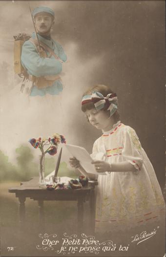 postcard, Dear Father…