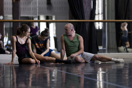 Jacopo Godani (R) rehearsing with SDC Dancers