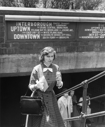 Imogen Cunningham Subway New York 1956 gelatin silver print Collection of George Eastman House, International Museum of Photography and Film