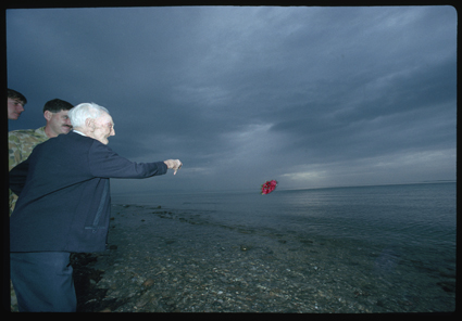 Jack Ryan throwing poppies into the Aegean Sea, When Old Foes Meet