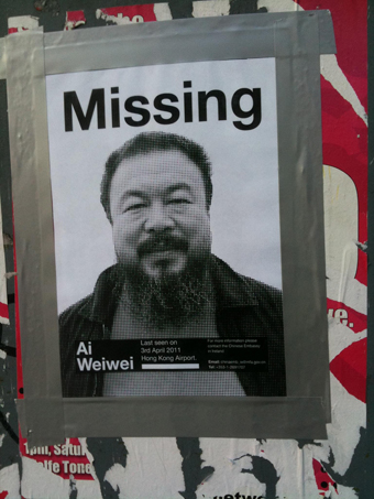 Ai Weiwei missing poster